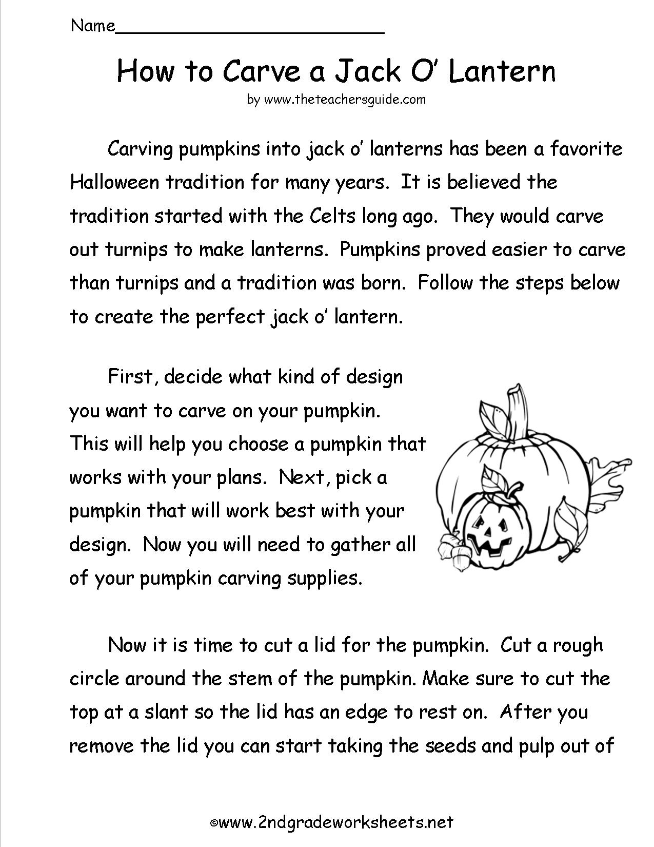 17 Best Images Of 1st Grade Halloween Reading Worksheet