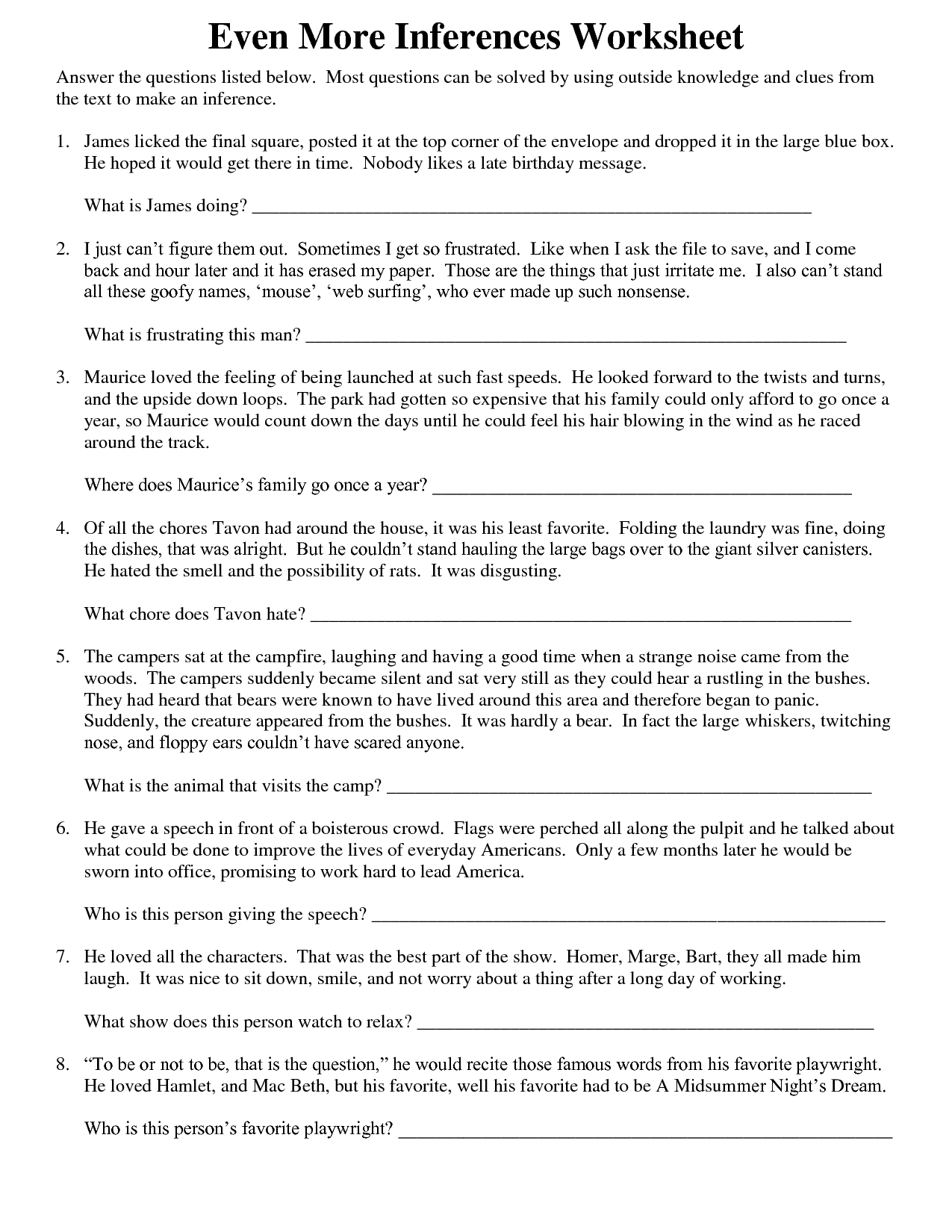 35 Making Inferences Worksheet High School