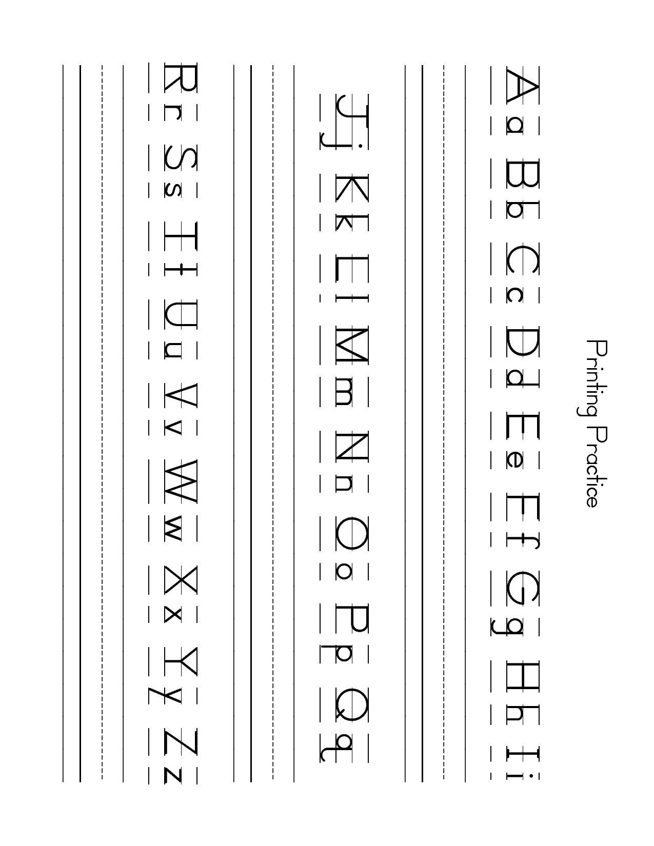 Lower Case Letter Practice Worksheets