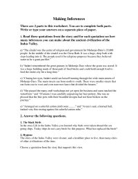 13 Best Images of Inferences Worksheets With Answers ...