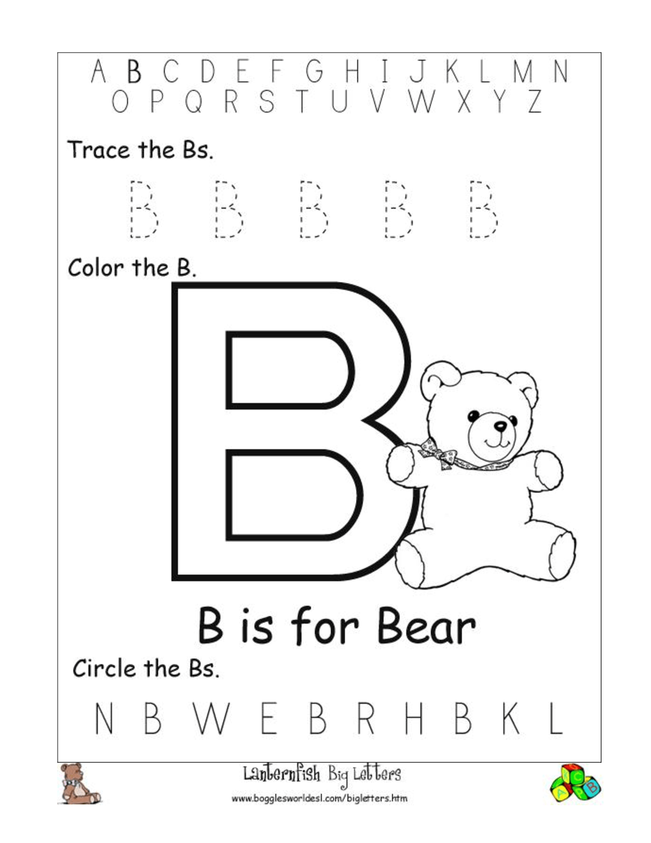 Worksheet Letter Recognition