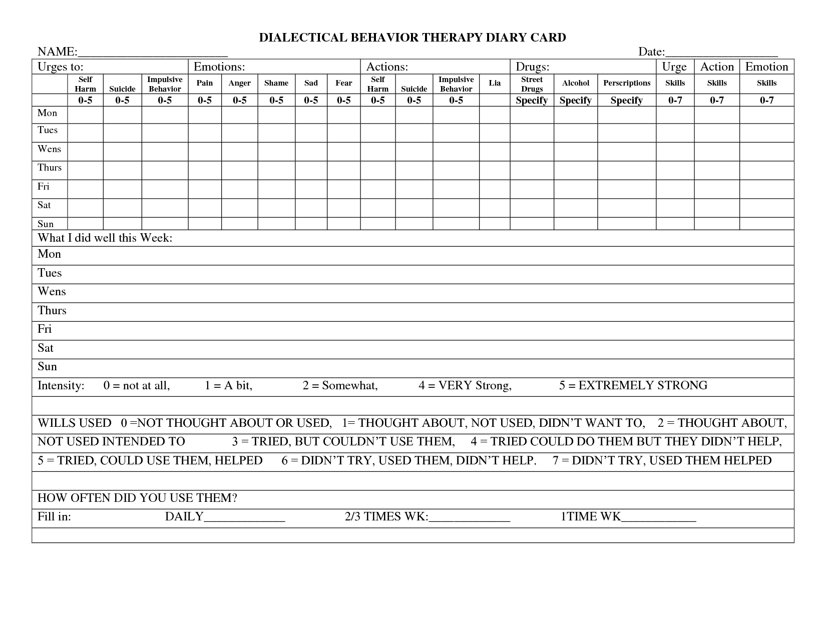 16 Best Images Of Impulsive Behavior Worksheet