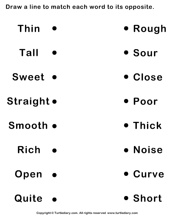 12 Best Images of Opposite Adjectives Worksheet  Words