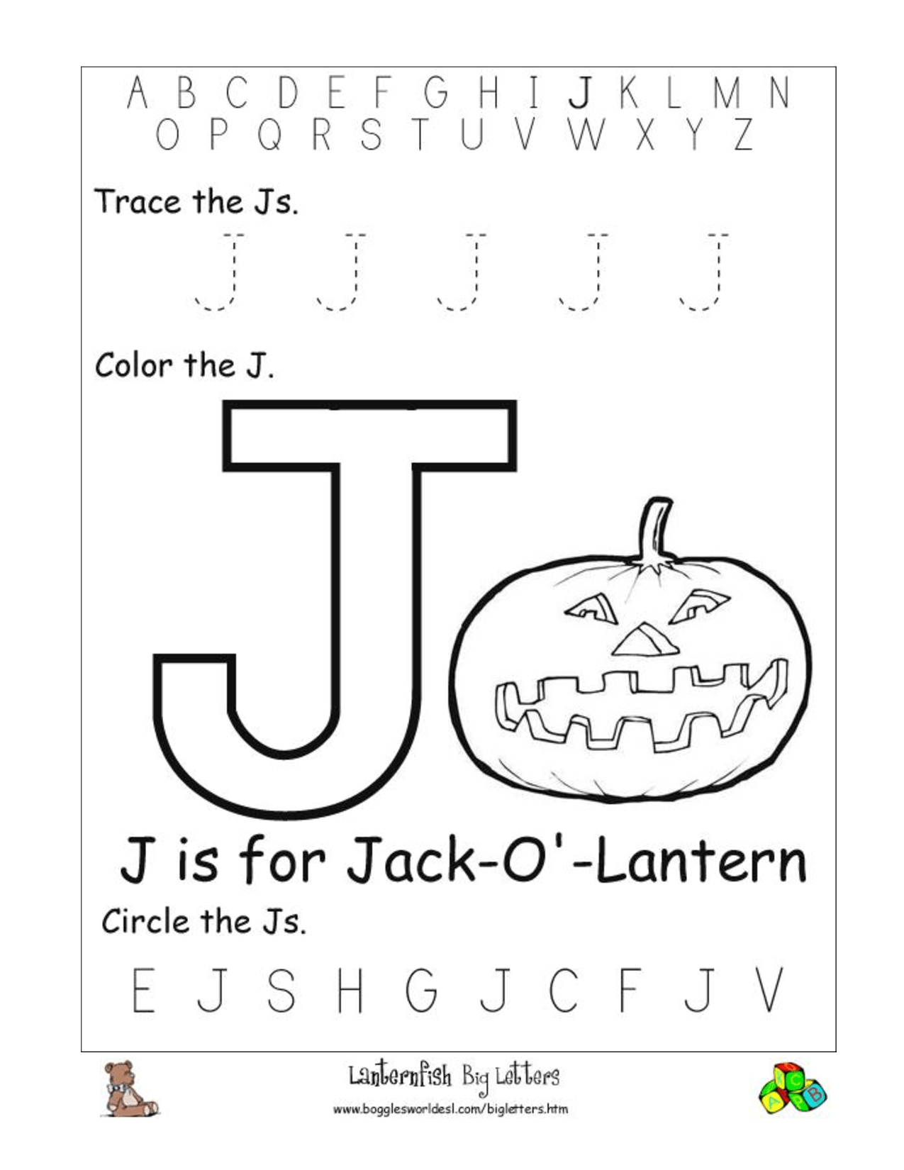 15 Best Images Of Letter J Preschool Worksheets Alphabet Recognition