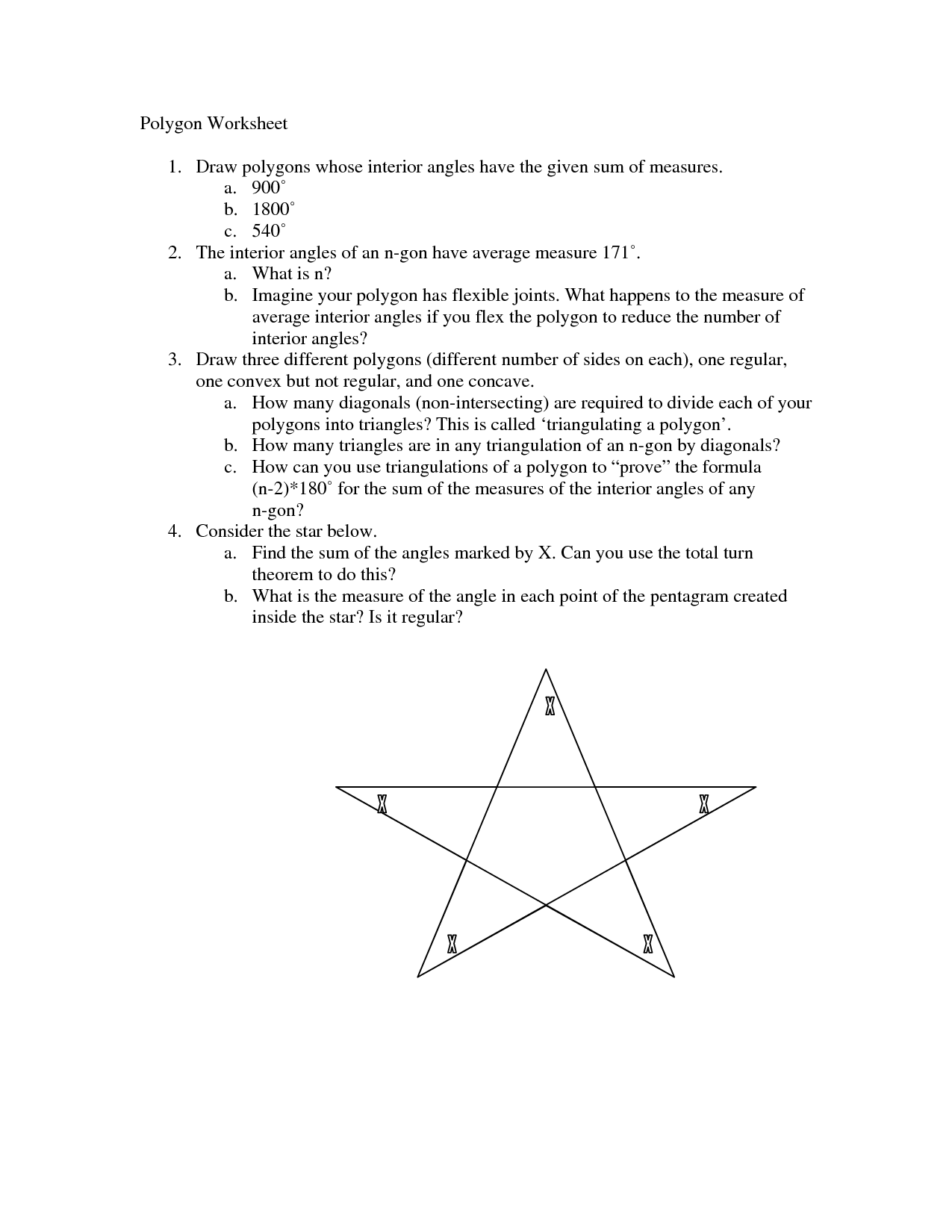 6 Best Images Of Polygon Sides And Angles Worksheets