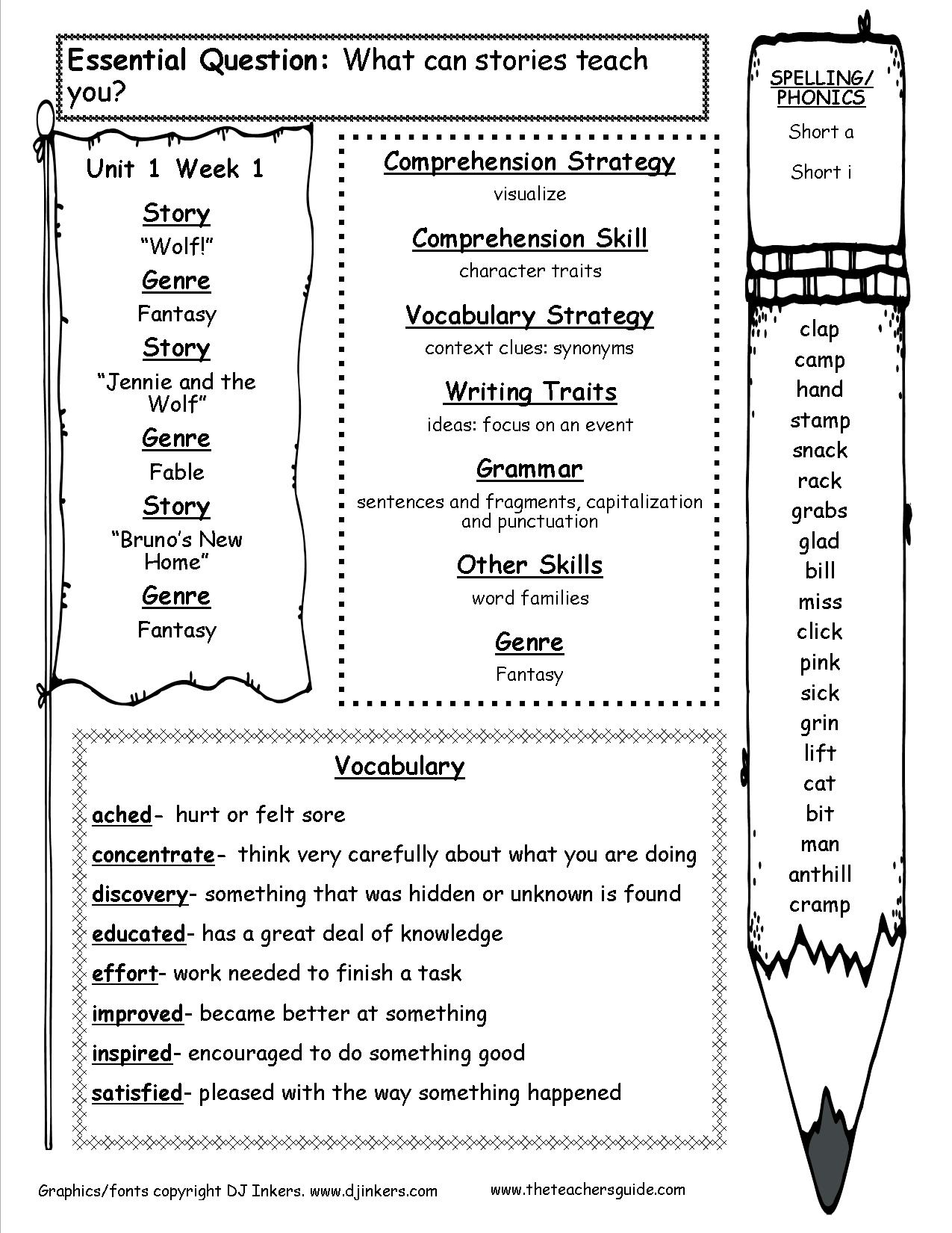 12 Best Images Of Free Writing Skills Worksheets