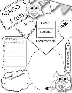 11 Best Images of Printable All About Me Worksheet High