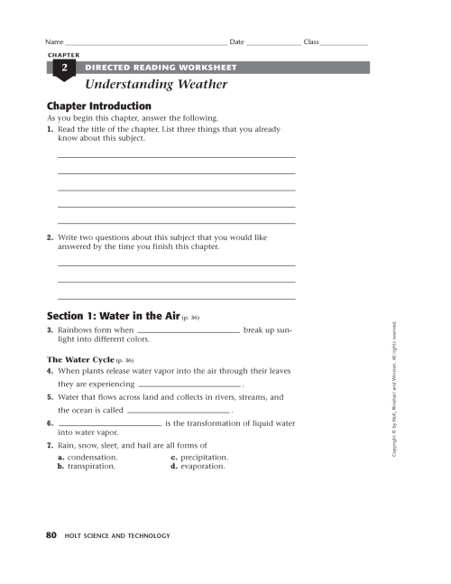 small resolution of Science Worksheets Year 8   Printable Worksheets and Activities for  Teachers