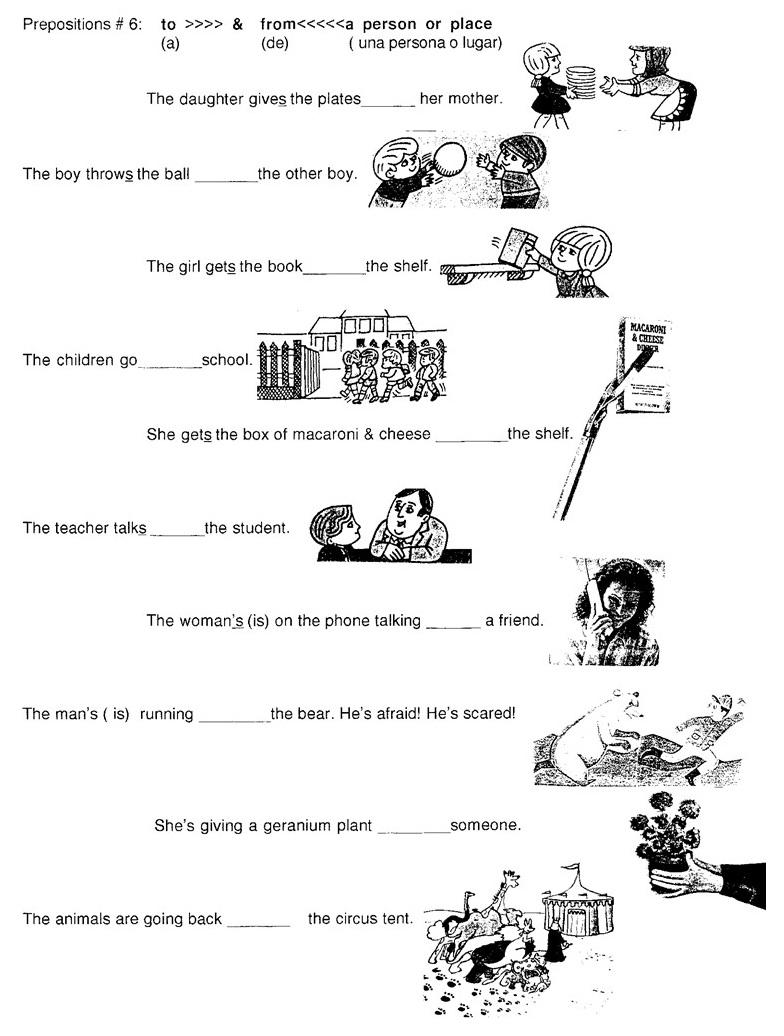 11 Best Images of Preposition Worksheets For Kindergarten