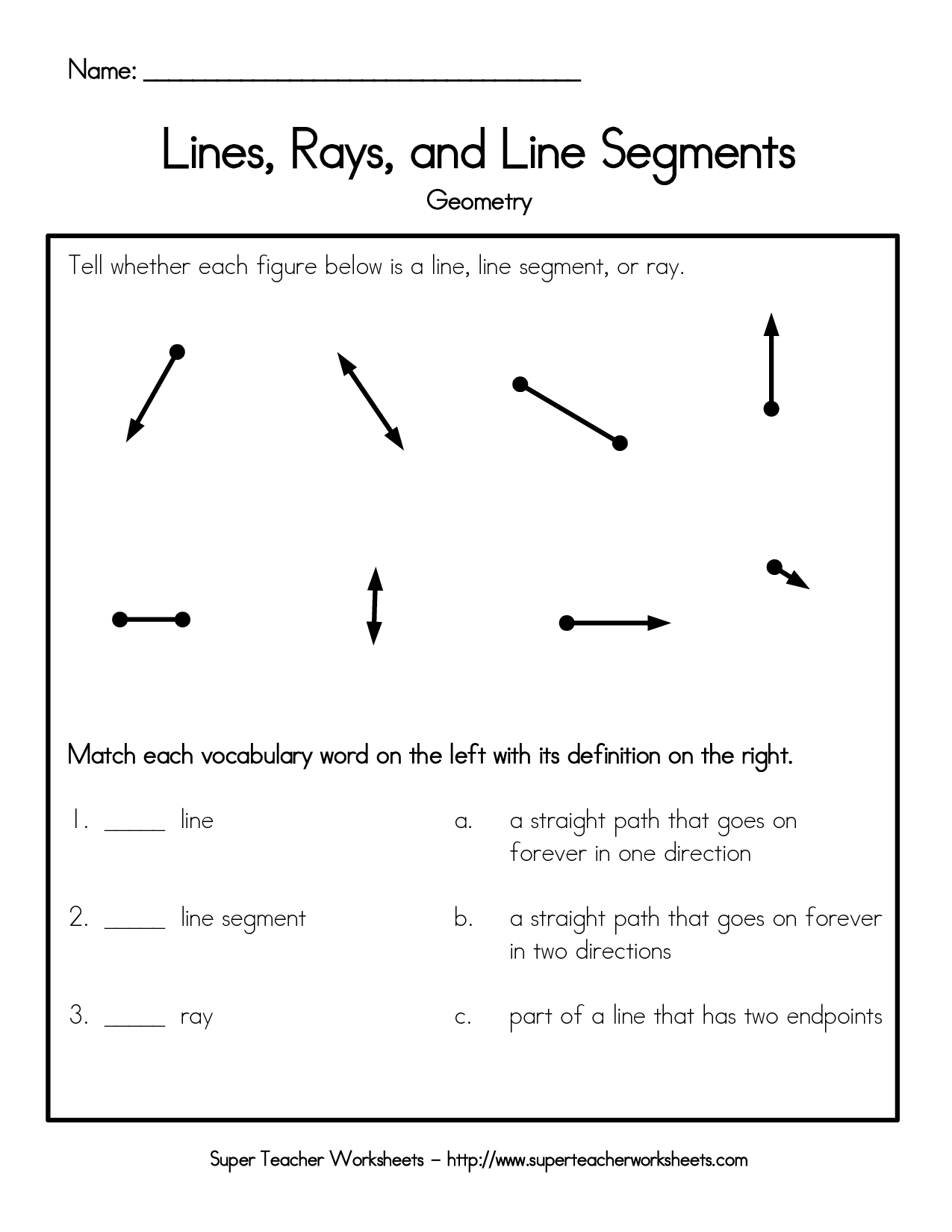Draw Parallel And Intersecting Lines Line Segments And