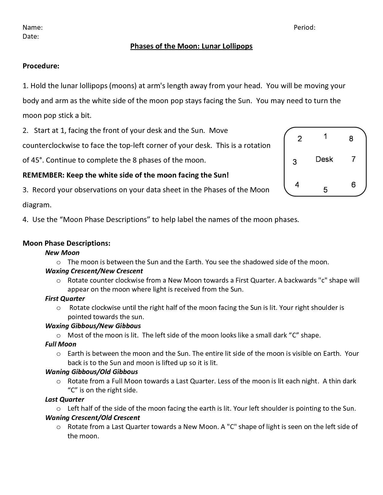16 Best Images Of Bill Nye Moon Worksheet