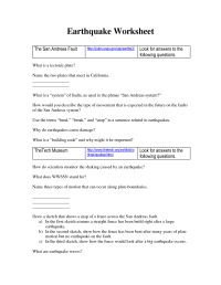 14 Best Images of Causes Of Earthquakes Worksheet ...