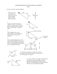16 Best Images of Pythagorean Theorem Word Problems ...