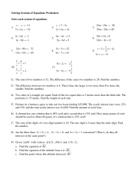 15 Best Images of Systems Of Equations Worksheets Printing