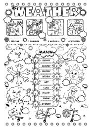 13 Best Images of Weather Activities Worksheets For Kids