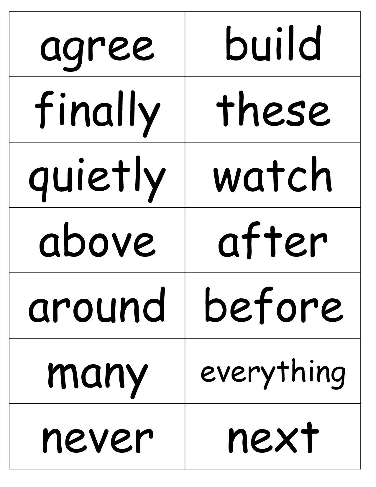15 Best Images Of 2nd Grade Sight Word Worksheet