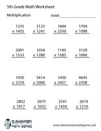 14 Best Images of 5th Grade Math Worksheets With Answer ...