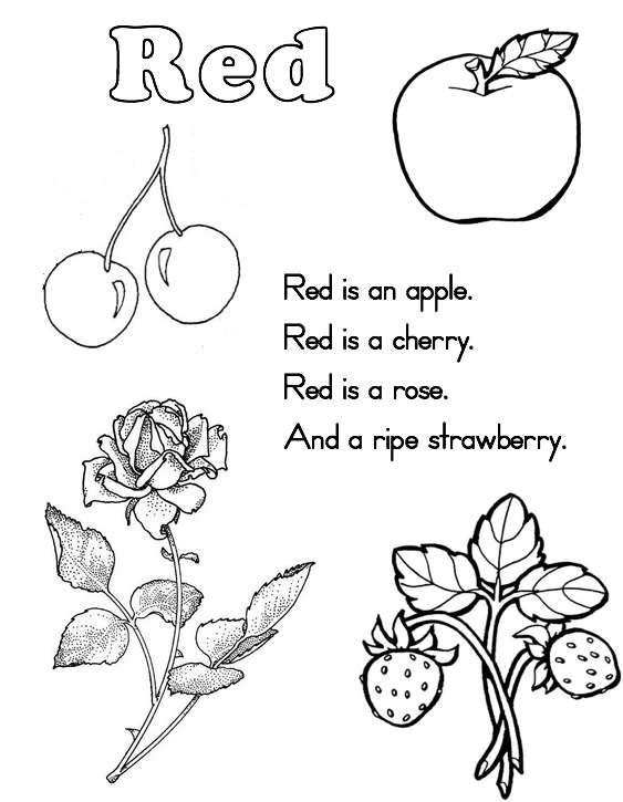 Pink Things Colouring Page
