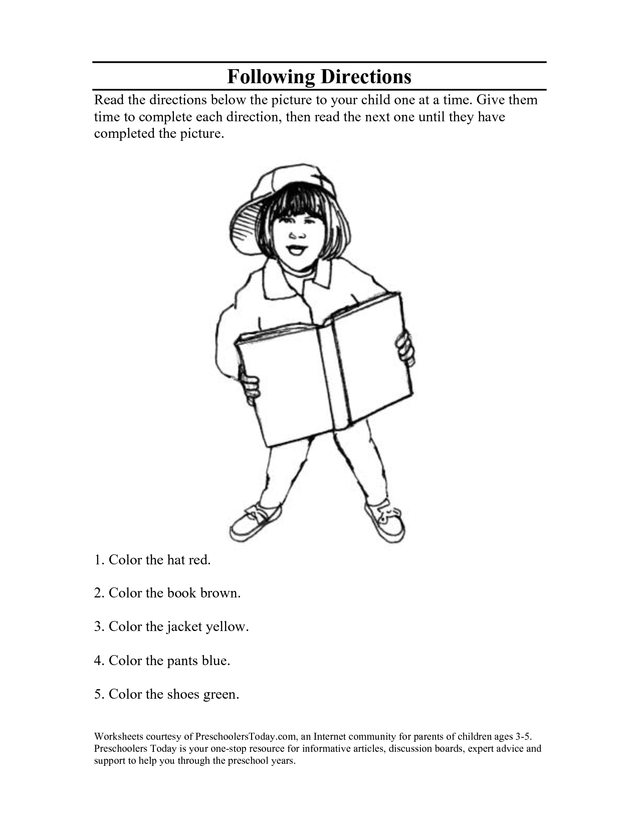 14 Best Images Of Follow Directions Worksheets For Elementary