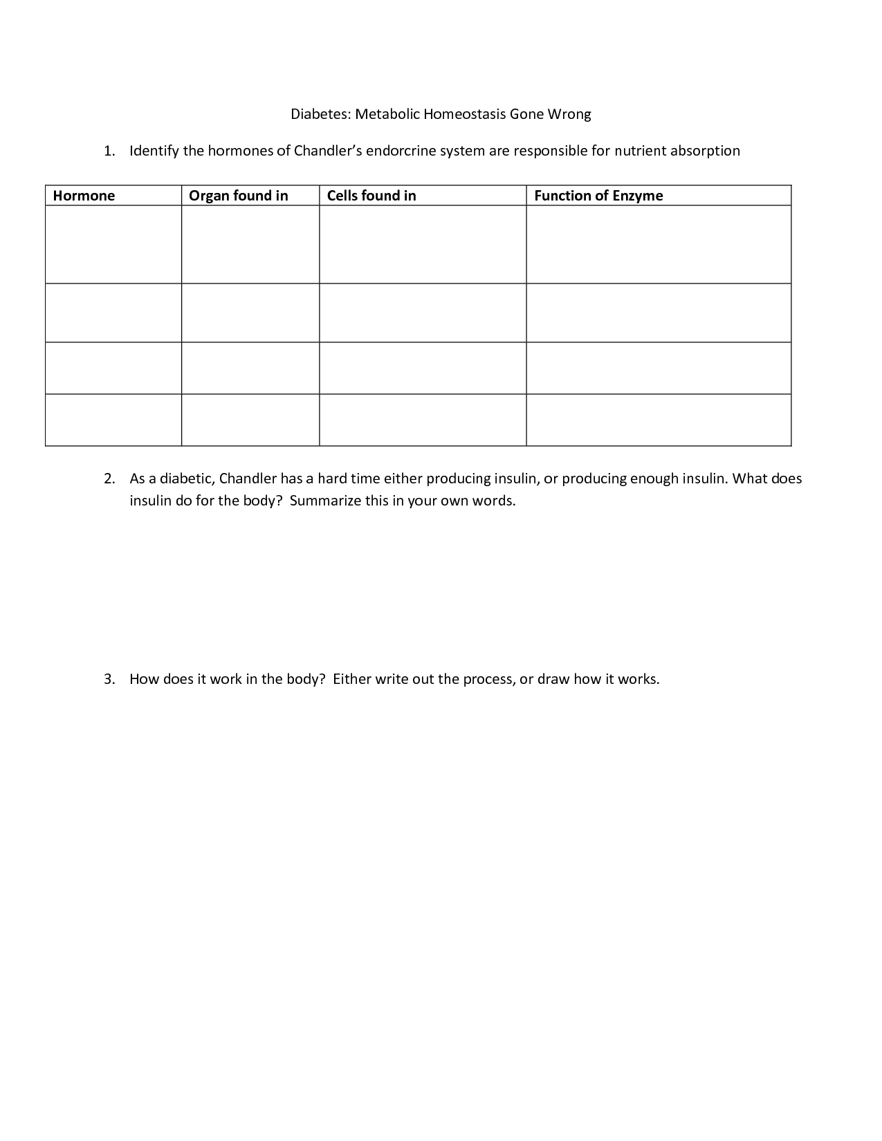14 Best Images Of How Enzymes Work Worksheet