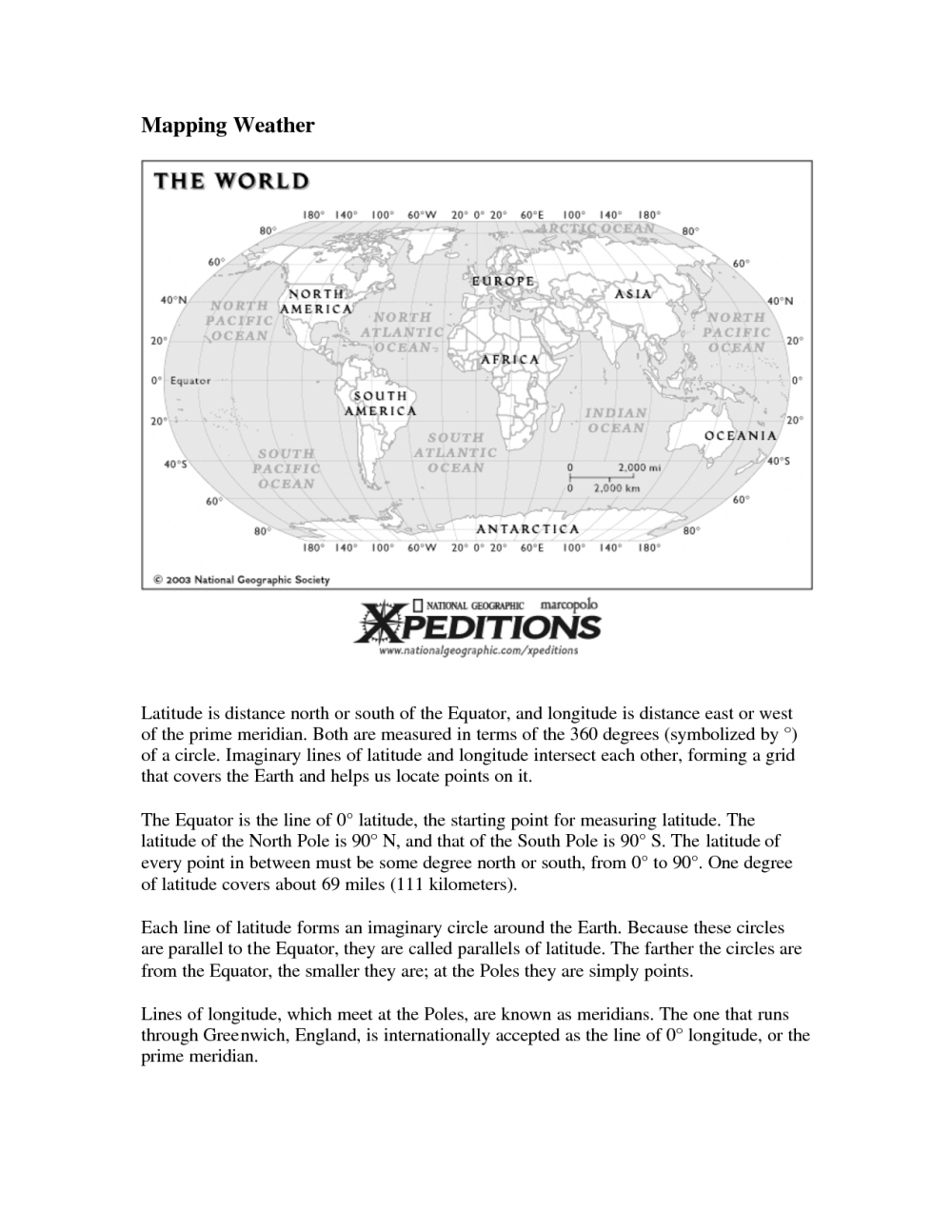 medium resolution of Worksheets Longitude And Latitude Usa   Printable Worksheets and Activities  for Teachers