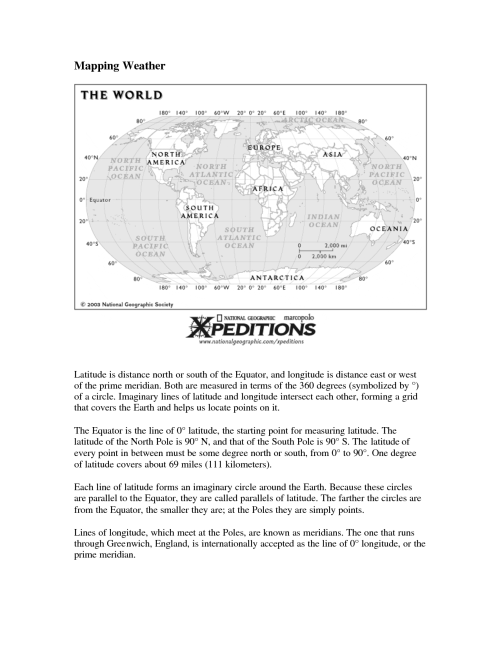 small resolution of Worksheets Longitude And Latitude Usa   Printable Worksheets and Activities  for Teachers