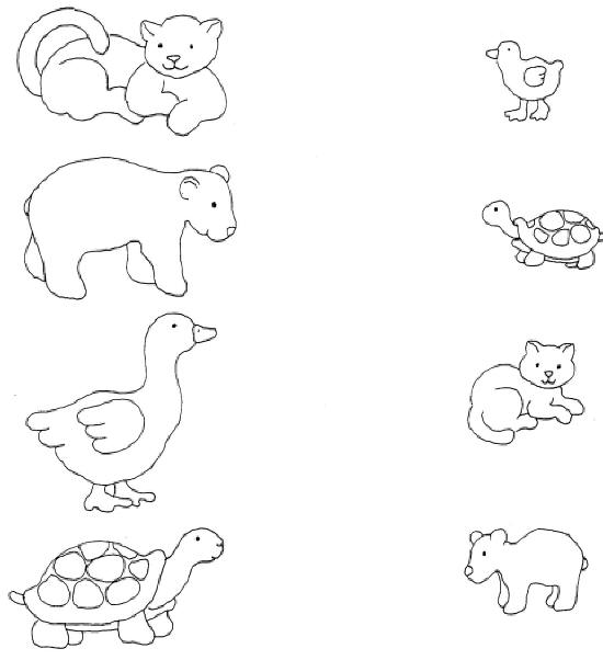 12 Best Images of Mother Baby Animal Match Worksheet