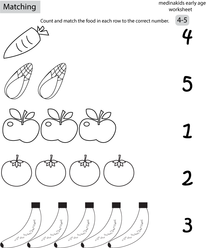 15 Best Images of Number Matching 1-10 Worksheets
