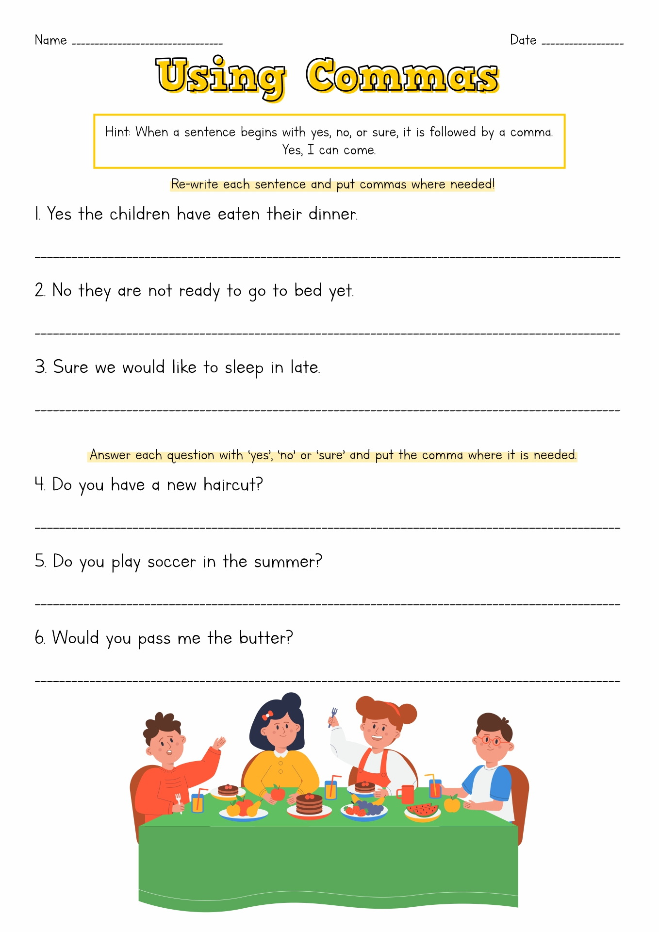 Ellipsis Grammar Worksheet Middle School