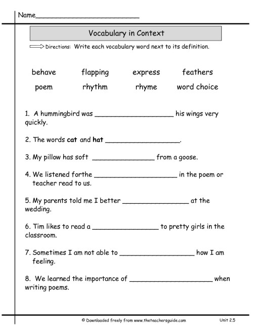 small resolution of 1st Grade Vocabulary Words Worksheet   Printable Worksheets and Activities  for Teachers