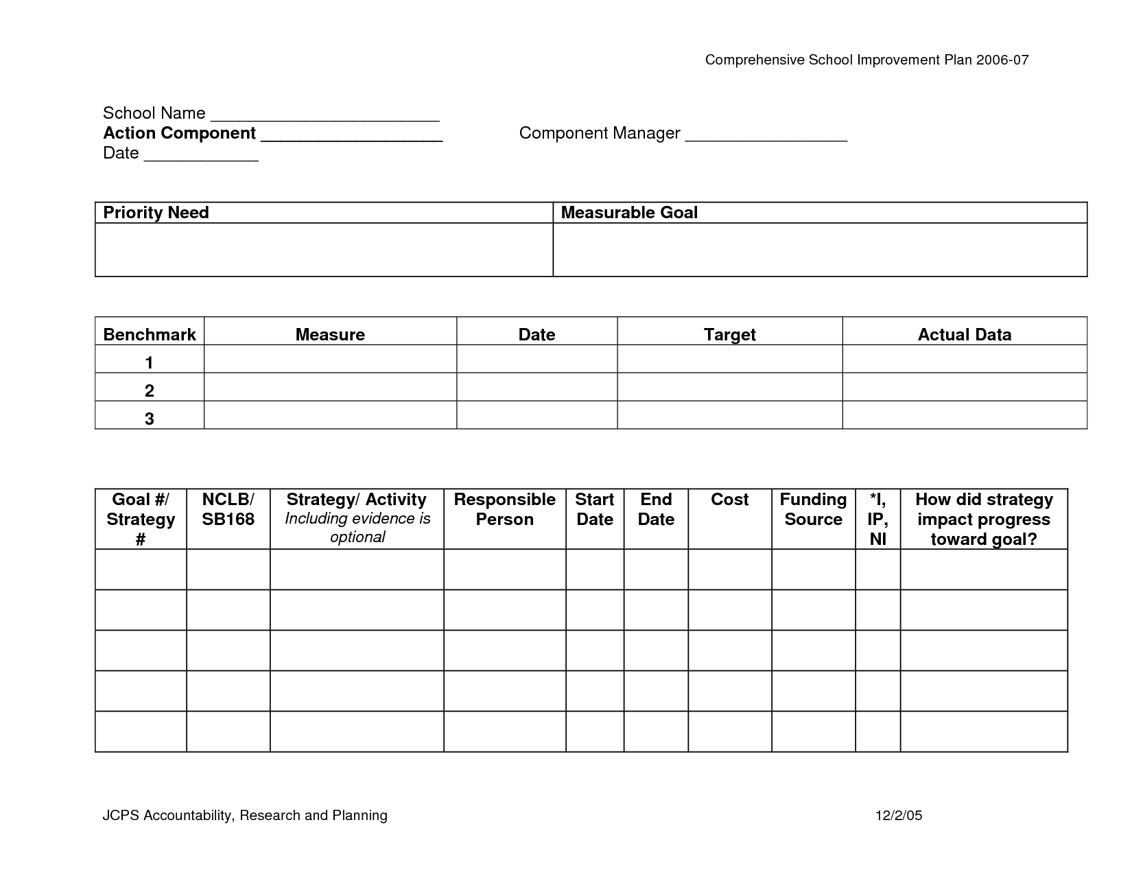 Housing Plan Worksheet