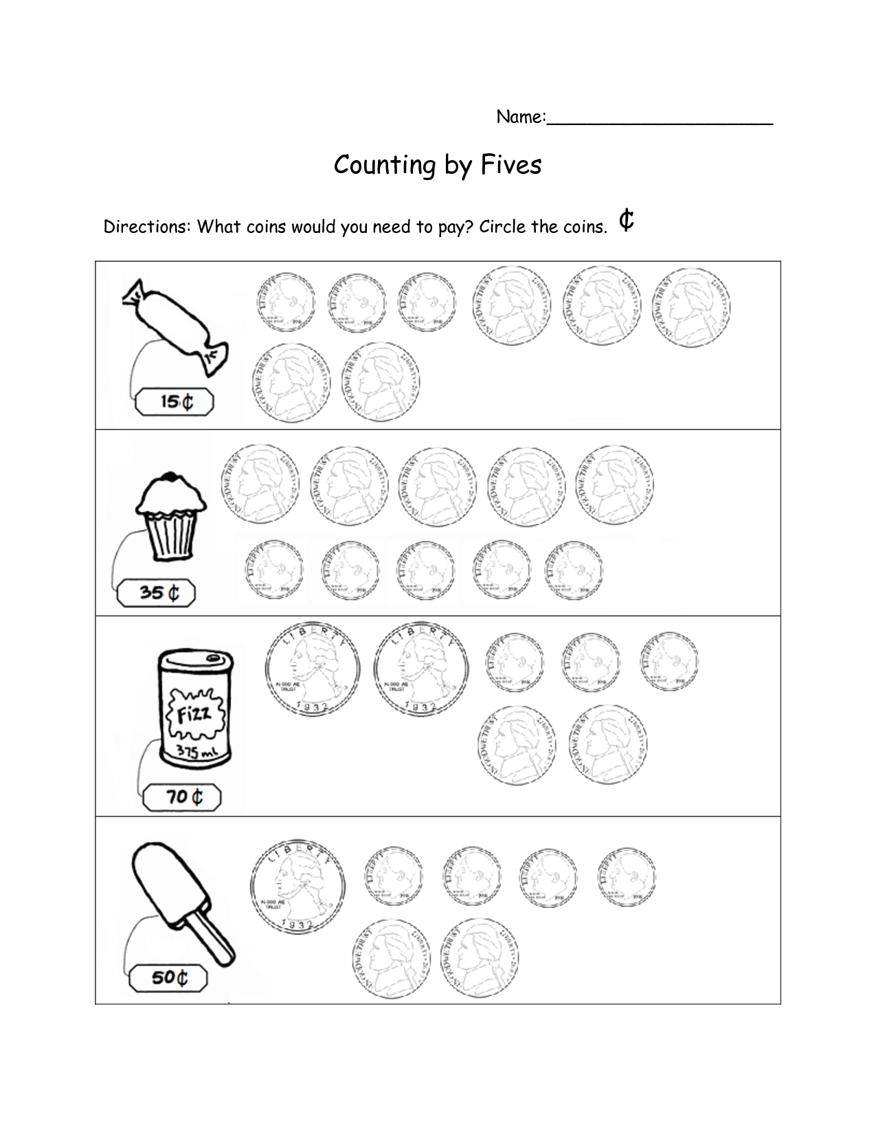 13 Best Images Of Counting By 5s Worksheet