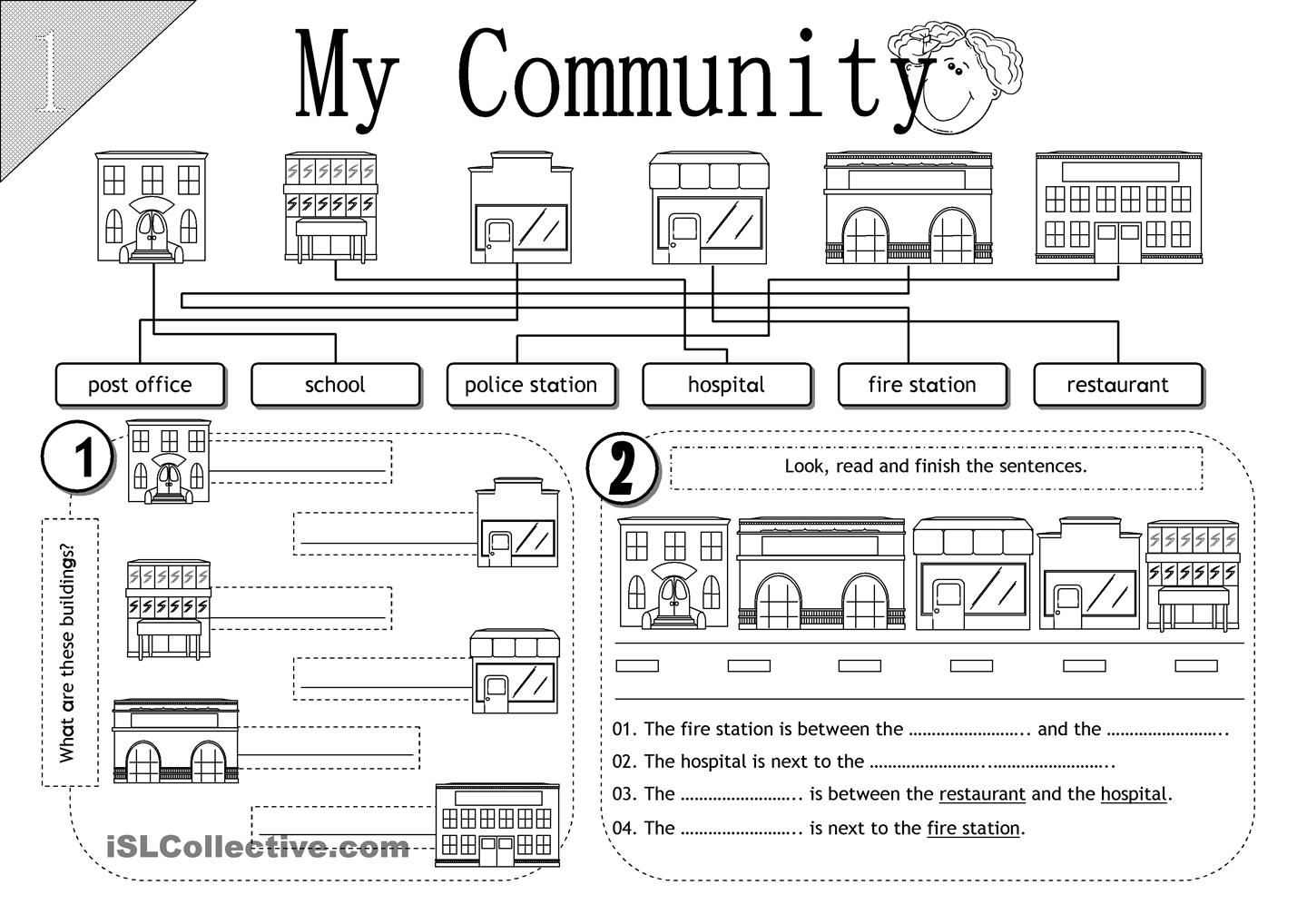 14 Best Images Of Worksheets About My Community