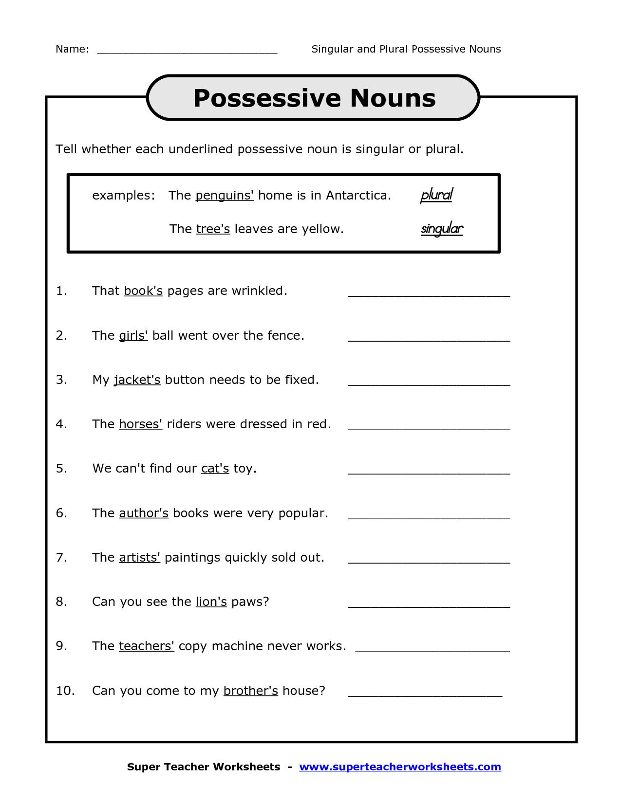 19 Best Images Of Possessive Pronouns Worksheets For Esl