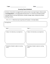 12 Best Images of Worksheets Finding The Theme - Reading ...