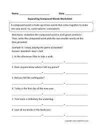 17 Best Images of 1st Grade Compound Word Worksheets - 2nd ...
