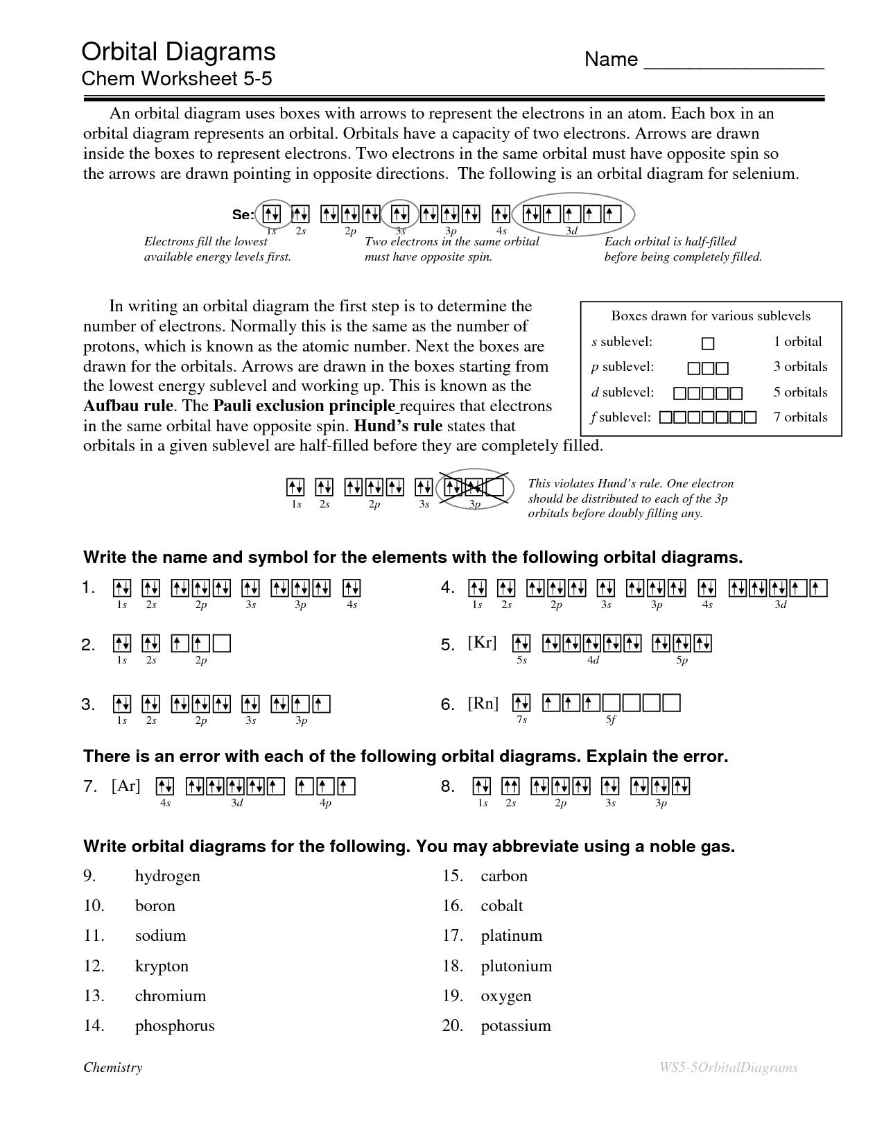 Electron Dot Diagram Worksheet With Answers