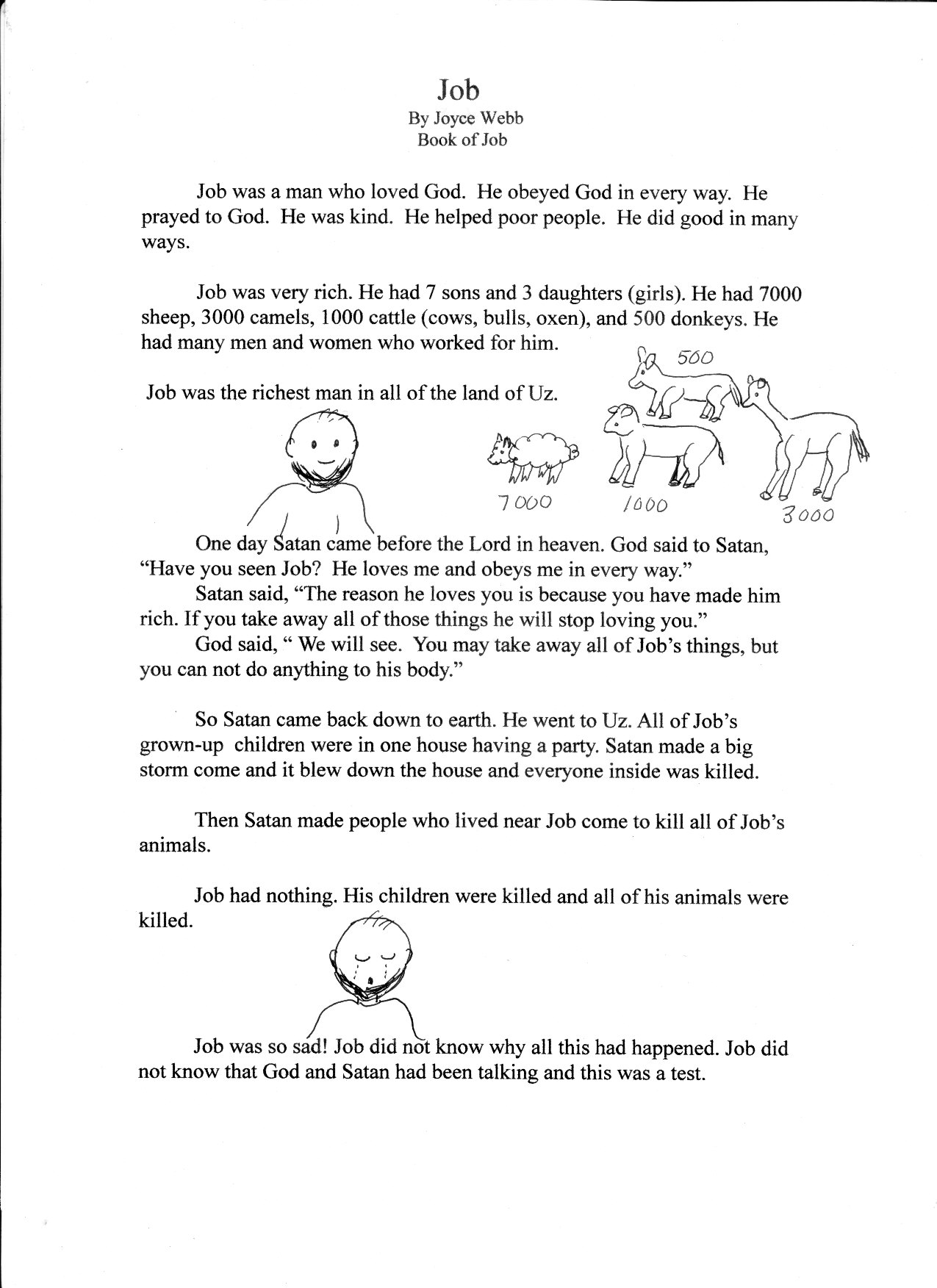 Bible Worksheet Faith
