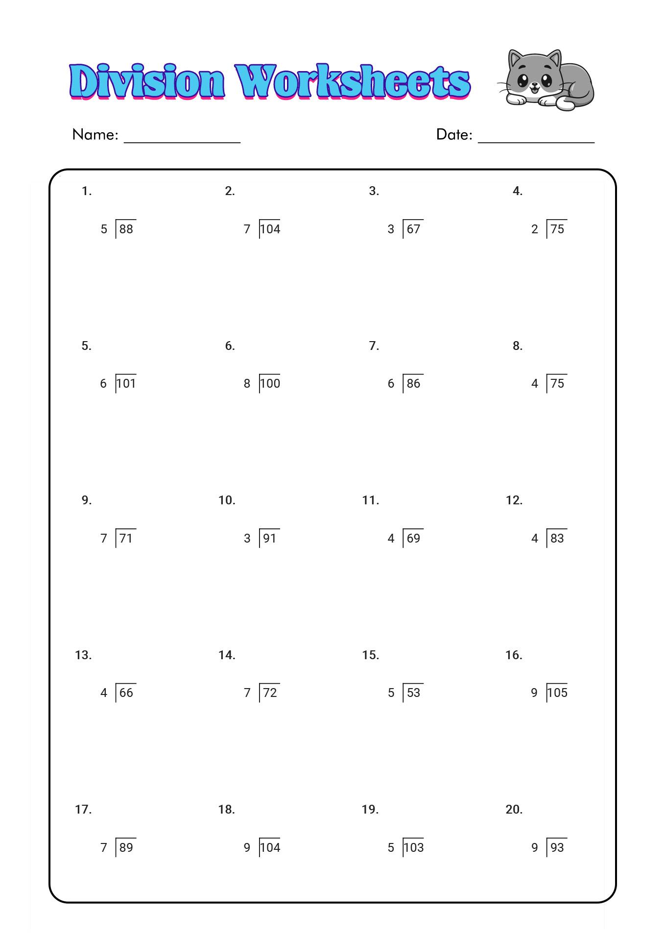 12 Best Images of 3rd Grade Math Division Worksheets