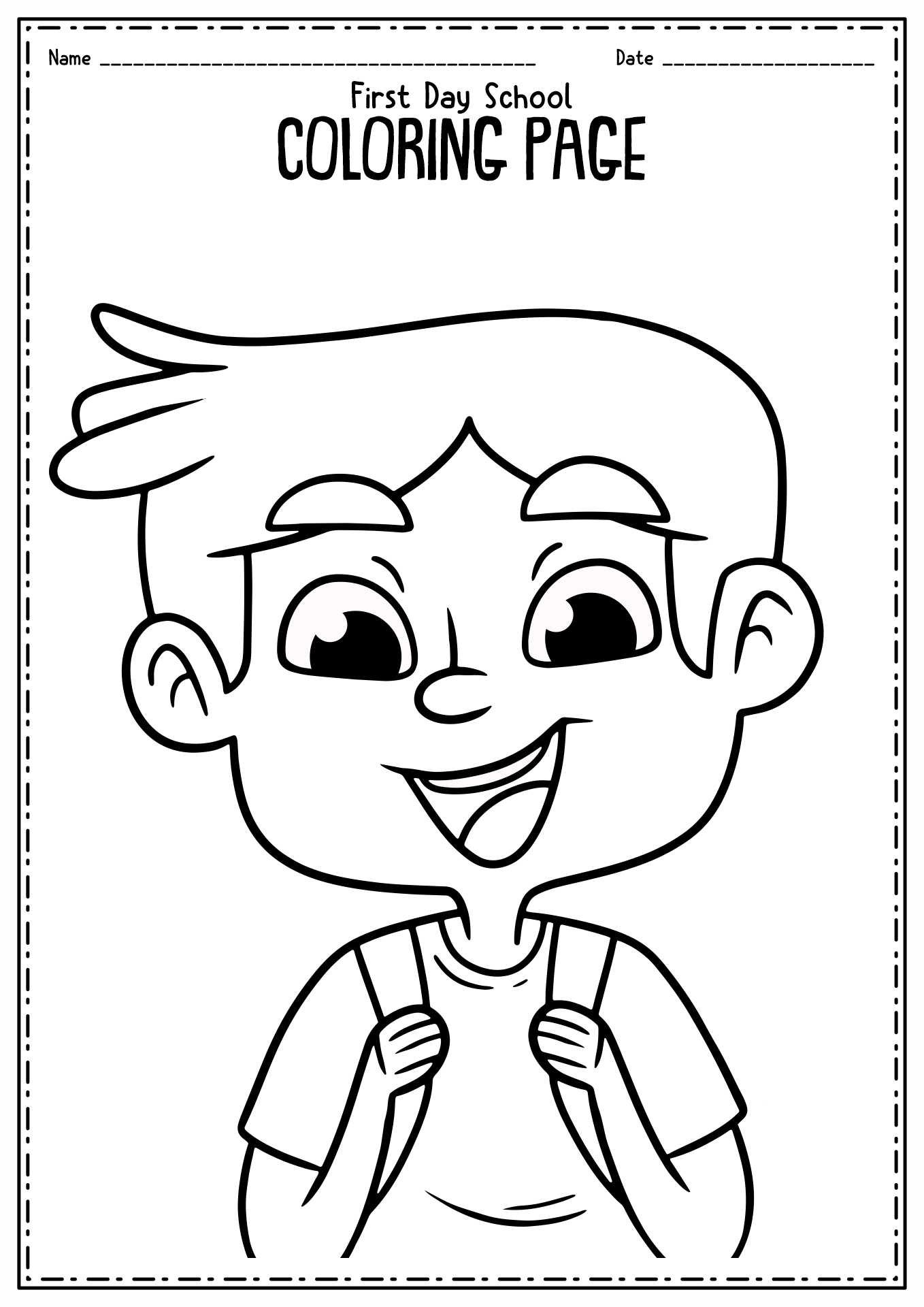 12 Best Images of First Day Of Preschool Printable