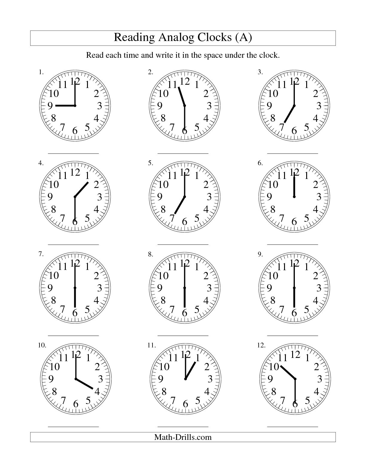 17 Best Images Ofog Clock Worksheets