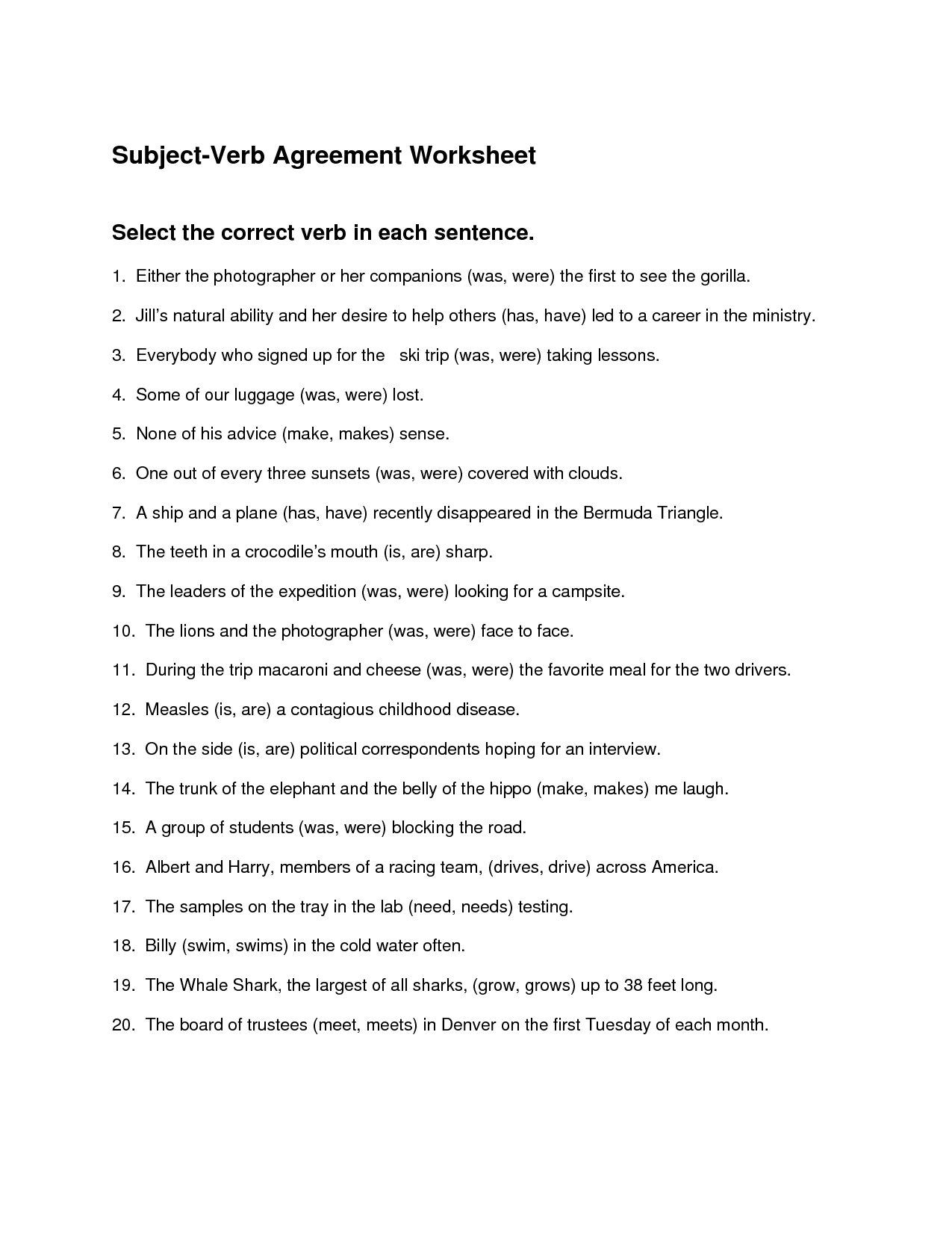 19 Best Images Of Verb Is And Are Worksheets
