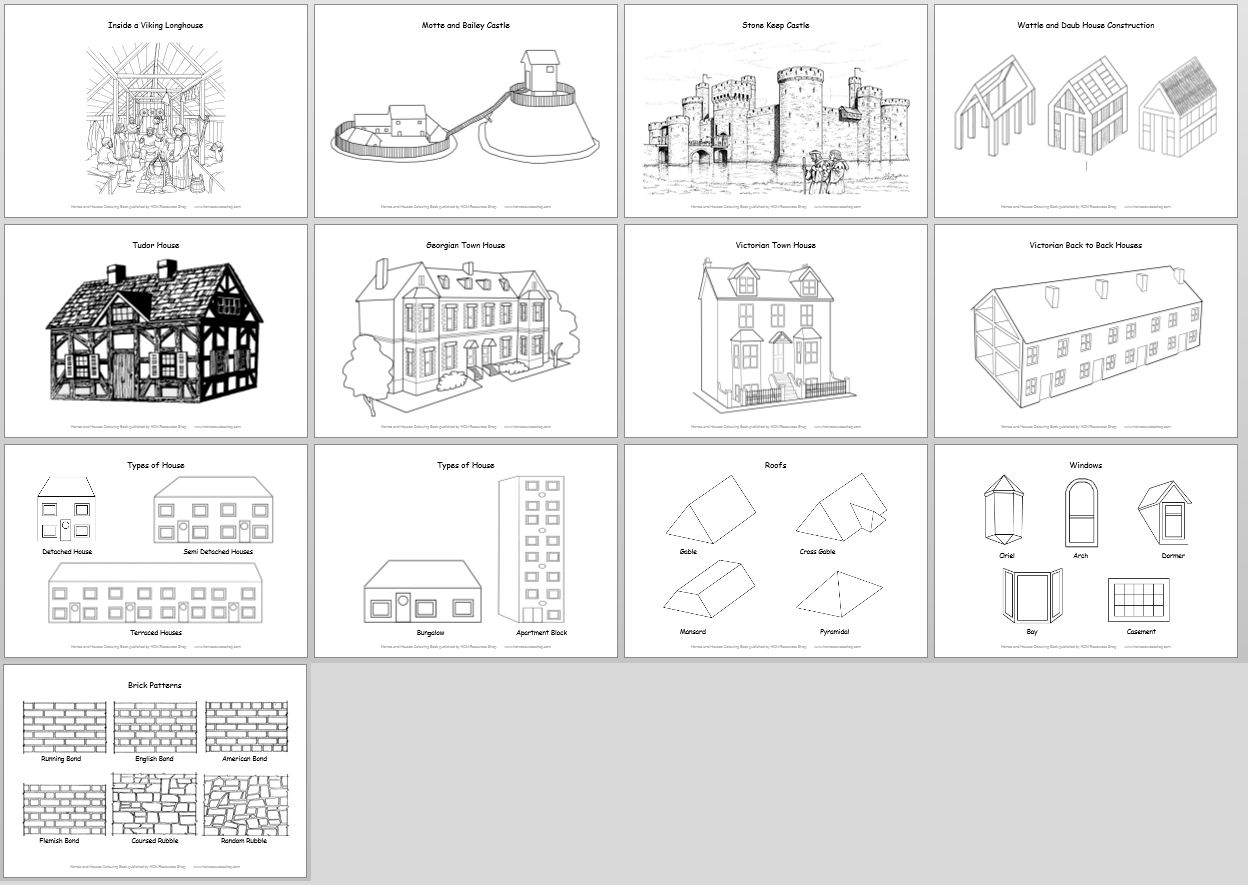 13 Best Images Of Worksheets House Places