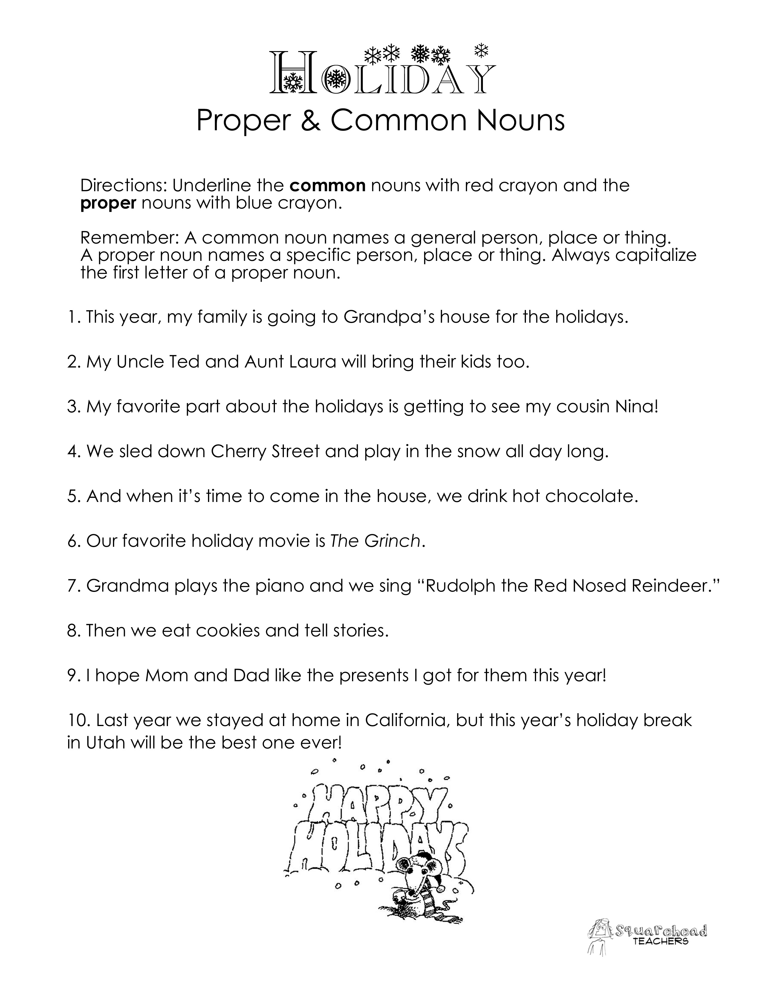 2nd Grade Comprehension Worksheet About Winter
