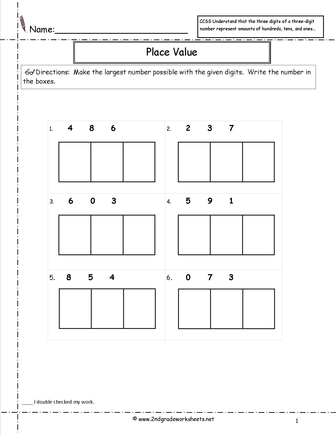 13 Best Images Of 7 Digit Place Value Worksheets