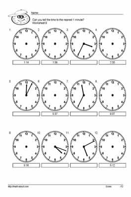 15 Best Images of Free Telling Time Worksheets For