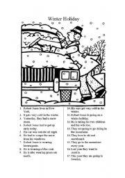 15 Best Images of Winter Reading Comprehension Worksheets