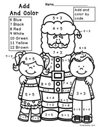 9 Best Images of Hard Christmas Coloring Math Worksheets ...
