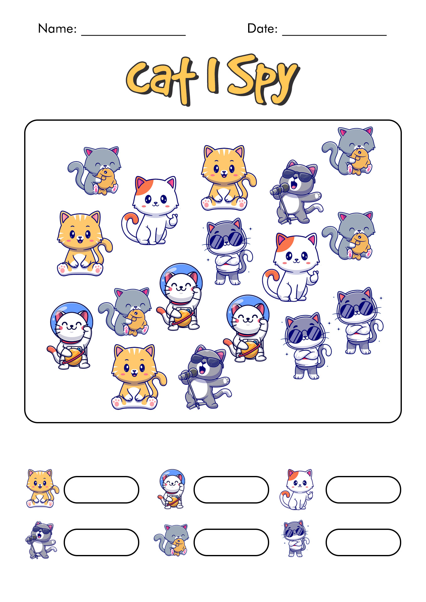 100 Things I Spy Worksheet