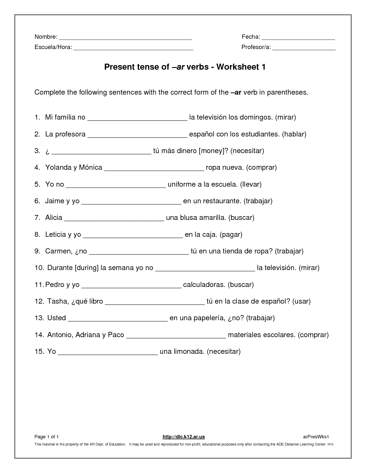 12 Best Images Of French Verbs Printable Worksheets